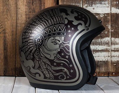 Custom Illustrated Motorcycle Helemts
