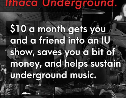 Advertisement for Ithaca Underground