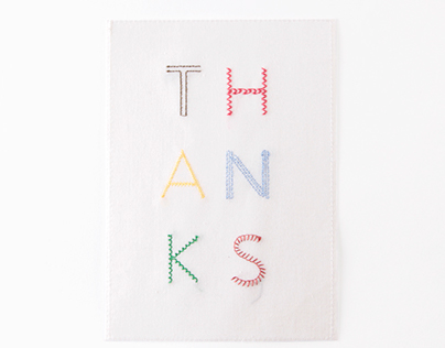 Thanks Card for Anthropologie