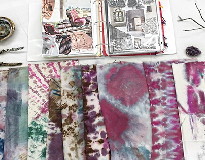 Layered Dye Sampels