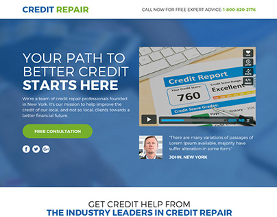 Best leads funnel landing page design for credit repair