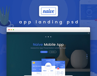 Naive App Landing Page Template