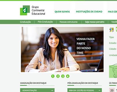 Design for university website.