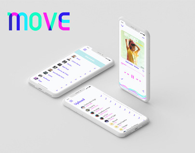 Move - Music App (Mobile Application) | UX/UI