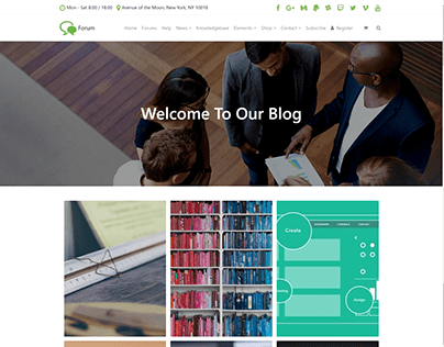 Blog - Grid Style - Forum WordPress Theme