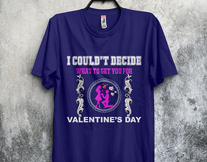 Valentine's day t-shirt design