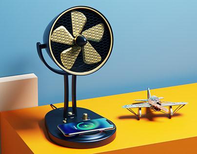 Aero: A Jet plane inspired Table Fan