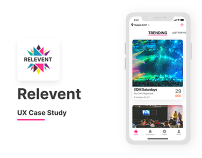 Relevent Event Booking - UX Case Study
