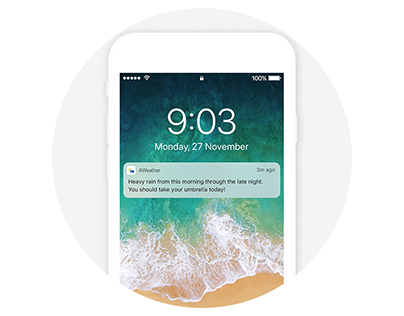 UX Case study—Weather notification application