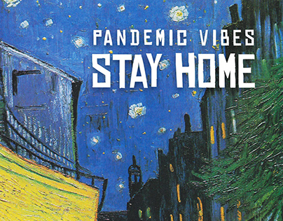 Van Gogh Terrace Cafe During Pandemic Poster Design