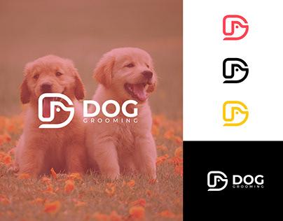 D logo design - dog logo - dog face - D letter logo