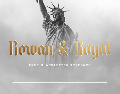 ROWAN & ROYAL - FREE BLACKLETTER FONT