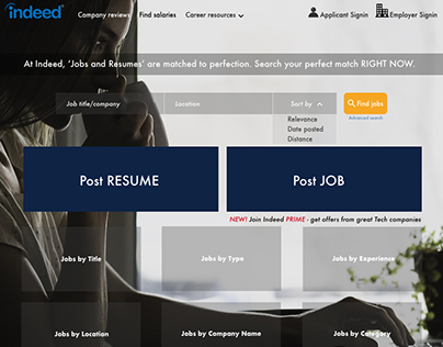 INDEED Job Search Website Redesign