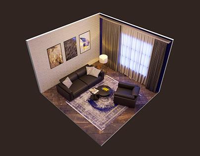 My cozy, tiny interior) 3dsMax+CoronaRender