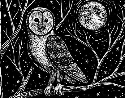 Animals: Black and White Illustrations
