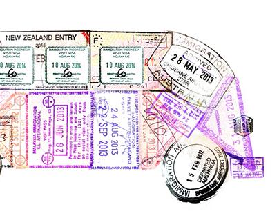 Traveling stamped van