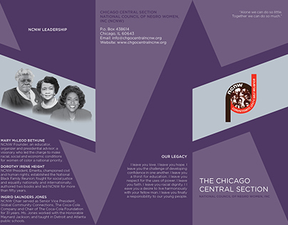 Brochure Design for National Council of Negro Women
