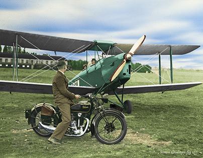 De-Havilland Gypsy Moth with Velocette KSS Mk 1 1934