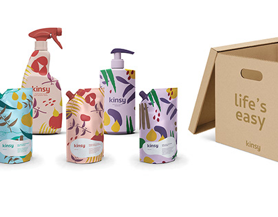 Kinsy Branding & Packaging - Sustainable Cleaning