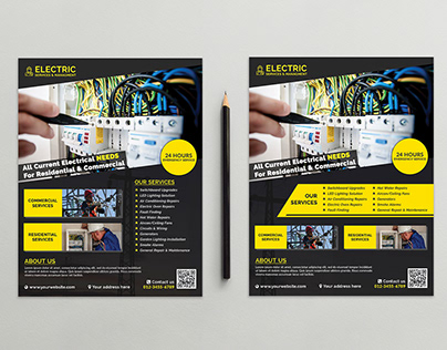 Electrician & Electrical Services Flyer Template