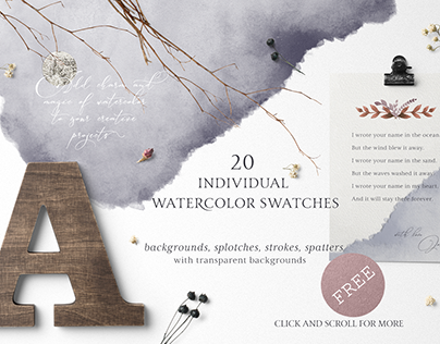 FREE WATERCOLOR SWATCHES