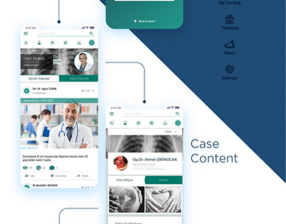 HippogrApp - Doctors Social Media App UX - UI