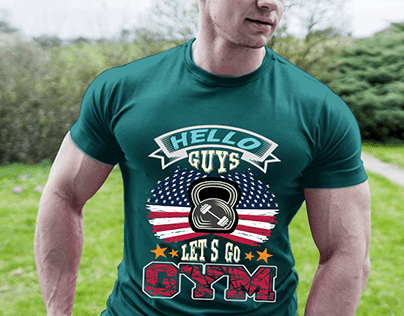 gym t-shirt design.