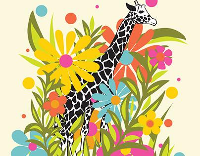 Garden-Variety Giraffe and Zebra