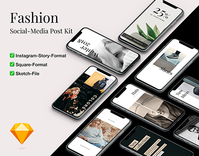 Fashion SocialMedia Post Kit