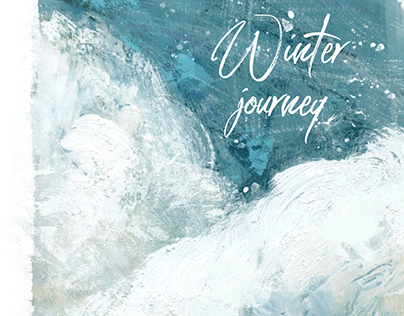 Winter Journey. Mixed media Illustrations