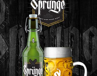 SPRUNGE - BEER / BIER Branding - Identity