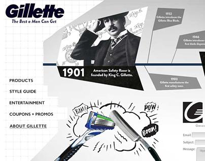 Gillette Website Redesign