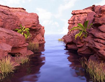 3D nature illustration