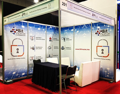 Stand para expo Info Security cliente BIT9