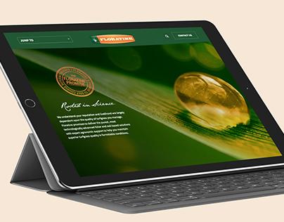 Floratine Microsite: UI/UX Design