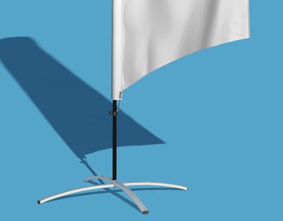 Beach Flags Mock-up