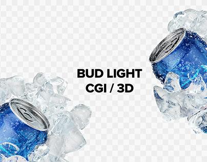 Bud Light - Modular CGI Images Set (3D Rendering, Beer)