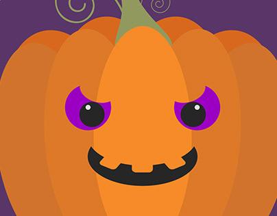 Spooky Pumpkin Illustration Case Study