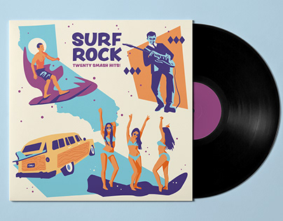 Surf Rock Record Cover