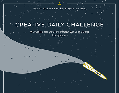 Adobe Daily Creative Challenge. Space