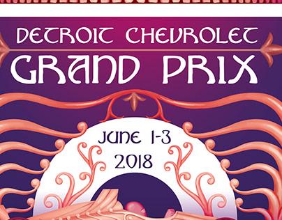Detroit Grand Prix 2018 Poster