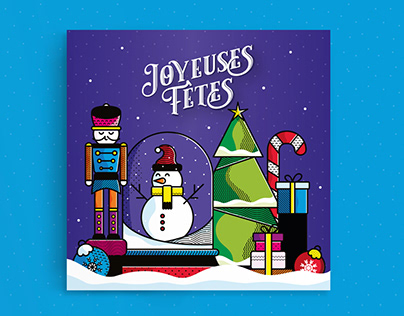 Joyeuses Fêtes - Illustration