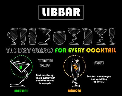 Bar glasses infographic