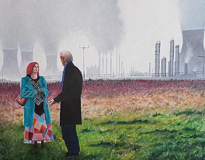 Love in an industrial landscape.