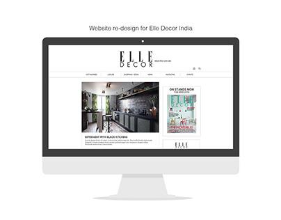 Elle Decor India - Website ReDesign