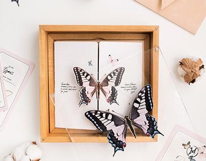 Butterflies wedding invitation