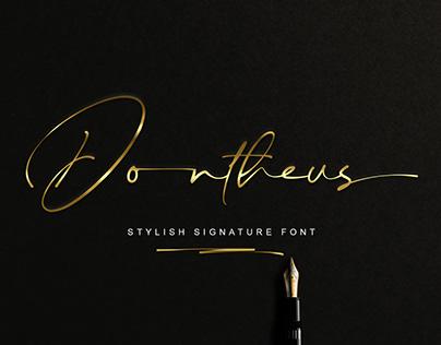 FREE | Dontheus Signature Font
