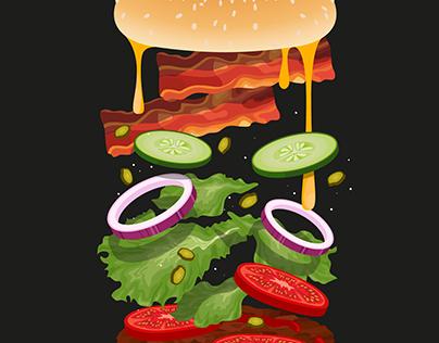 Infografía de una hamburguesa 🍔/Hamburger Infographics