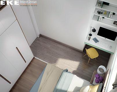 Thiết kế nội thất căn hộ chung cư The Art 68m2 quận 9