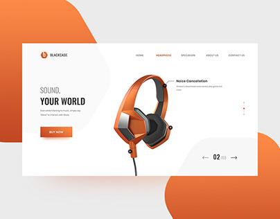 Sound Landing Page UI/UX Design